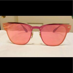 New Ray Ban Pink Blaze Clubmaster Sunglasses